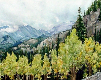 Assorted Notecards, 5 x 7 Watercolor Reproductions, Featuring the National Parks