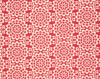 Amy Butler Fabric - 1 Metre Wallflower in Poppy from the True Colors Collection, ships from Australia