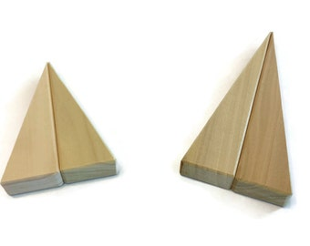 "Wooden Blocks-Small 4"" or 6"" Wedges"