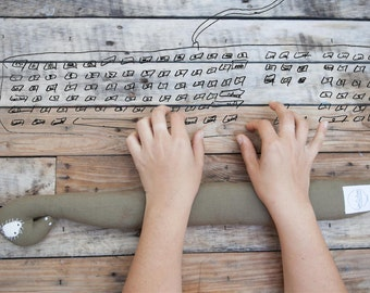 Funny keyboard wrist rest. Linen wrist pad for student