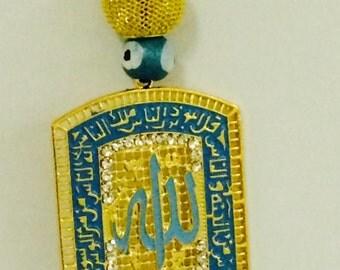 Rearview mirror decoration Car charm Islamic Talisman Allah