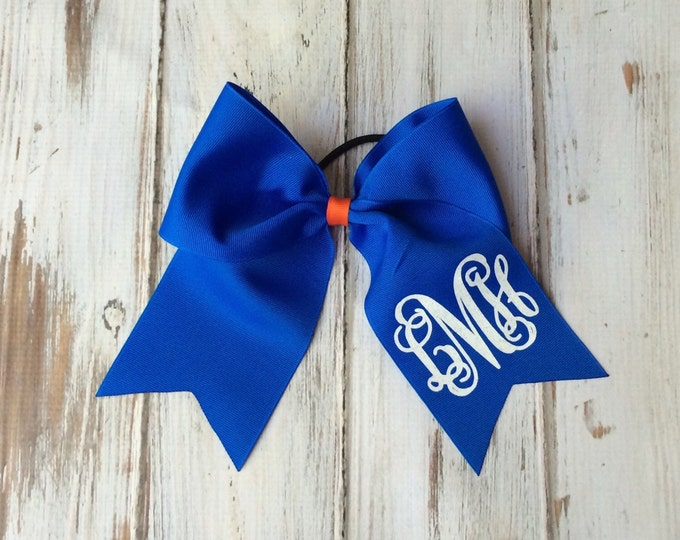 Monogram Cheer Bows, Hair Bows, Monogrammed Hair Bow, Big Cheer Bow, Monogrammed Gifts, Cheerleaders Bows, Softball team bows