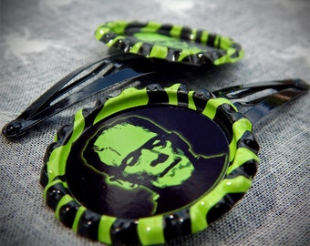 Electric Monster hair clips