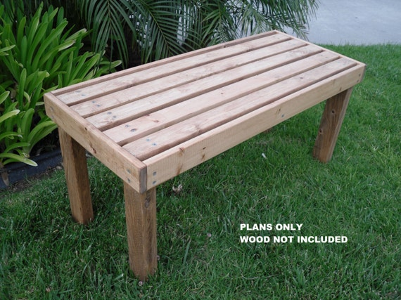 DIY - PLANS to make - Flat Bench - Outdoor Furniture for Patio Lawn or ...