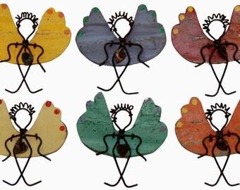 Metal Art Angels Large Fridge Magnets 100% Recycled Metal