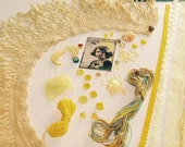 Yellow Crazy Quilt (CQ) Embellishment Kit