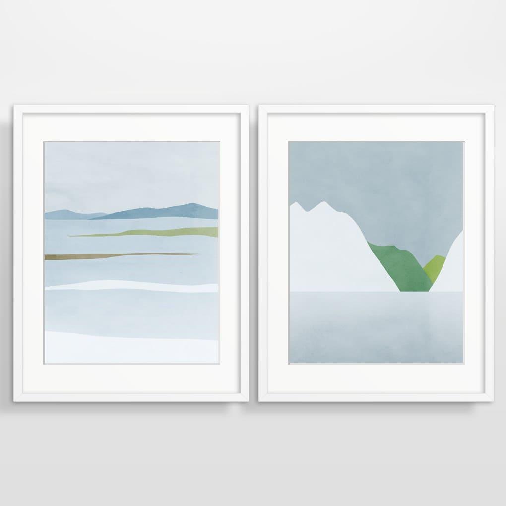 Wall art set scandinavian prints modern abstract art print for Modern wall art prints