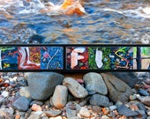 WORDS Inspired By Nature: FLY FISH with river rocks and wood (photography, art, handmade gift, wall decor, fishing, outdoor recreation)