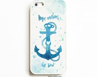iPhone 5 Rubber Case. iPhone 5S Case. Hope Anchors the Soul. iPhone 5S Cases. Rubber iPhone Case. Phone Case. iPhone Case.