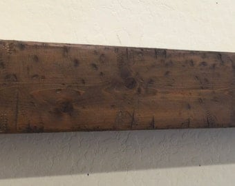 Wood Beam mantle,Fireplace Mantle, Rustic Mantle Shelf,Mantle,Beam Mantle Shelf,Fireplace Beam,Floating shelf,Primitive mantle, hollow beam