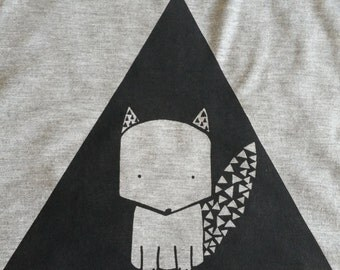 Triangle Fox Crop Top Tank