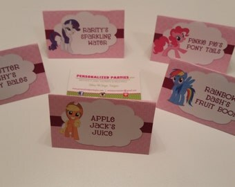 My little pony food tents | My little pony food labels | food tents