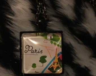 Paris Glass Pendant / Necklace