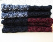SALE 50% Hand knitted 2 ways to wear  Boot cuffs Leg warmers Cable knit Black Gray Taupe White Red Yellow Dark gray