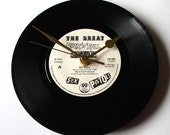 "The SEX PISTOLS, Vinyl Record Clock, ""My Way"", made from a recycled 7"" record, non ticking, comes in a box, Sid Vicious, punk rock, clock"