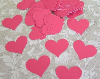 paper heart punches heavy cardstock red hearts 60+ pieces