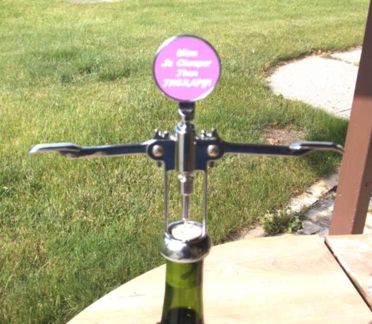 Funny wine bottle opener funny corkscrew custom wine bottle opener lol bottle opener made to - Funny wine openers ...