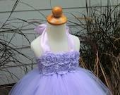Flower Girl Tutu Dress, Light Purple Flower Girl Dress,Lavender Tutu Dress