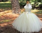 Ivory Sequin Tutu Dress, Sequin Flower Girl Dress, Sequin Tutu Dress, Birthday Tutu Dress, Sequin Tutu Skirt