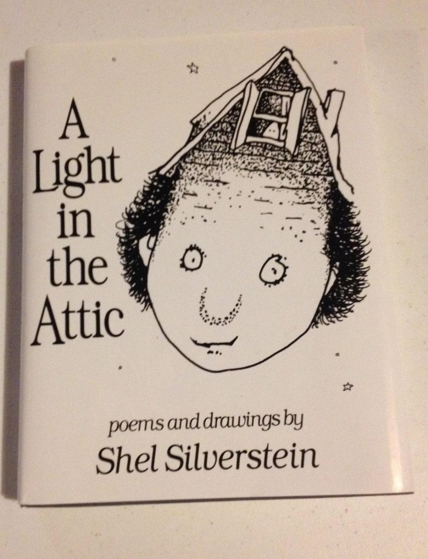 Vintage Shel Silverstein A Light In The Attic Hardcover Dj