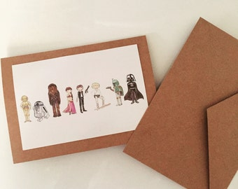 Set of 5- 5x7 folded greeting cards