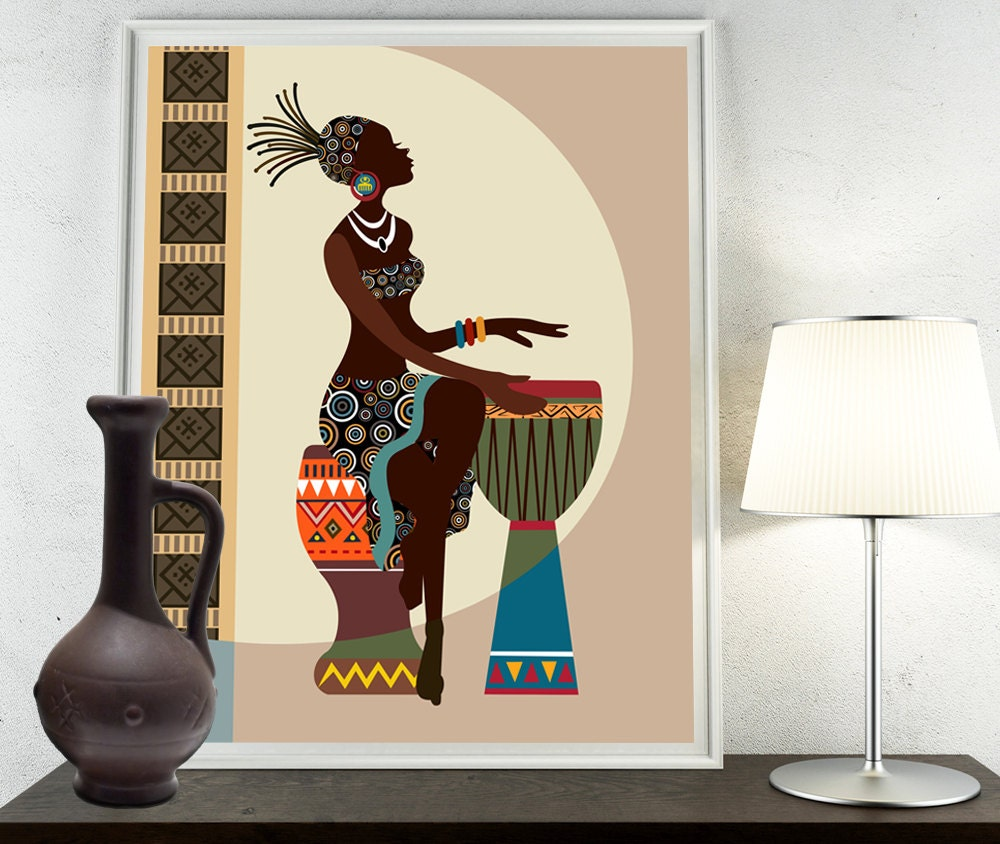 African art african american wall art african woman by for African wall decoration