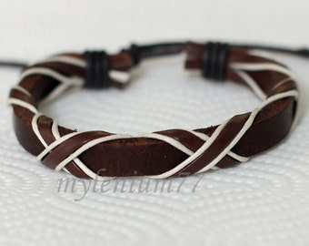 238 Men's brown leather bracelet Leather band bracelet Leather cords bracelet Wrapped bracelet Fashion jewelry Birthday gift For men & women