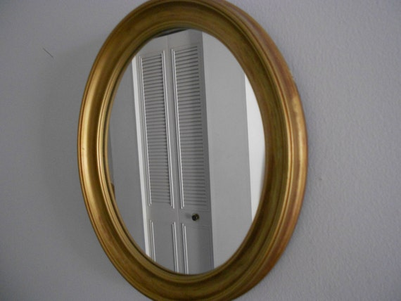 Gold Metal Wall Mirror