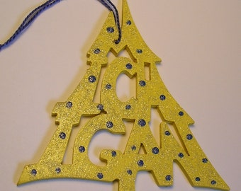 Michigan ornament, tree shaped