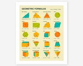 GEOMETRIC FORMULAS, Giclee Fine Art Print,  Wall Art for the Home Decor by Jazzberry Blue