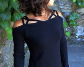 Dreamcatcher Top-Womens clothing-stylish tops-yoga lifestyle clothes-black shirt-unique fashion-sexy blouses-womens fashion-bohemian gypsy