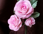 Gum Paste Roses Spray PINK  / Gum Paste Flowers / Cake Topper Spray