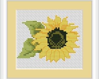 Sunflower Cross Stitch Kit By Luca S Ideal Beginner 9cm x 7cm