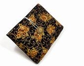 Tablet Case, iPad Mini Cover, Floral, Kindle Fire 7 Sleeve, 7 inch Tablet Sleeve, Cozy, Handmade, FOAM Padding, Holiday Gift, Black and Gold
