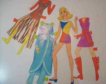 Vintage Groovie World of Barbie paper dolls Whitman #1976 1971