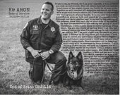 Photo Canvas Personalized With Words, K-9, Tribute to a loved one, in memory of a loved one or family pet