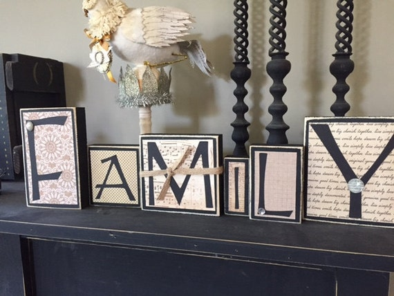 items similar to family home decor wood word blocks home decor word blocks just lol decor port elizabeth