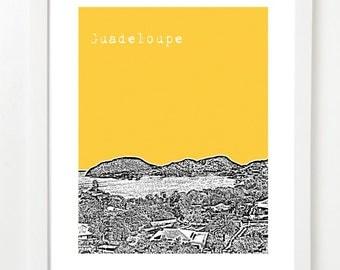 Guadeloupe Art Print  - Guadeloupe City Skyline Series - Baie Saintes Caribbean