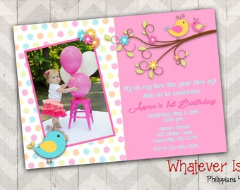 Little Birdie Birthday Printable Invitation