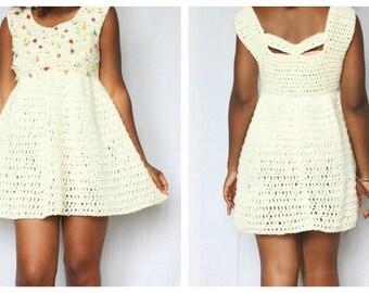 The Secret Gardens Crochet Dress Pattern. Instant Download!