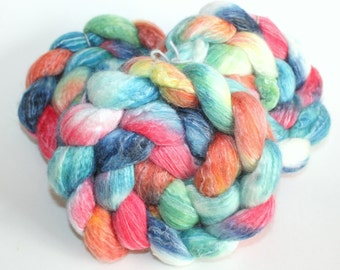 Handpainted Top / Roving | BFL / Silk / Bamboo | Mystery | 100g