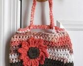 Crocheted Purse, Flower Purse, Purse for Girl, Girls Purse, Bag, Purse, Little Girl, Small Bag, Small Purse, Pouch, Birthday Gift, Girls Bag
