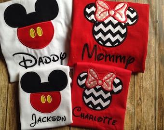 Custom family Disney vacation shirts