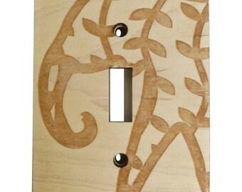 Elephant Light Switch Cover // Wooden Wall Plate // Safari Nursery // Jungle Nursery Decor // Elephant Home Decor // Light Switch Plate //