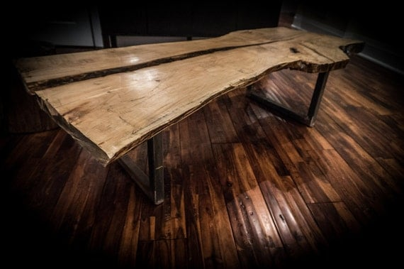 Toronto live edge slab coffee table; pickup only in Toronto