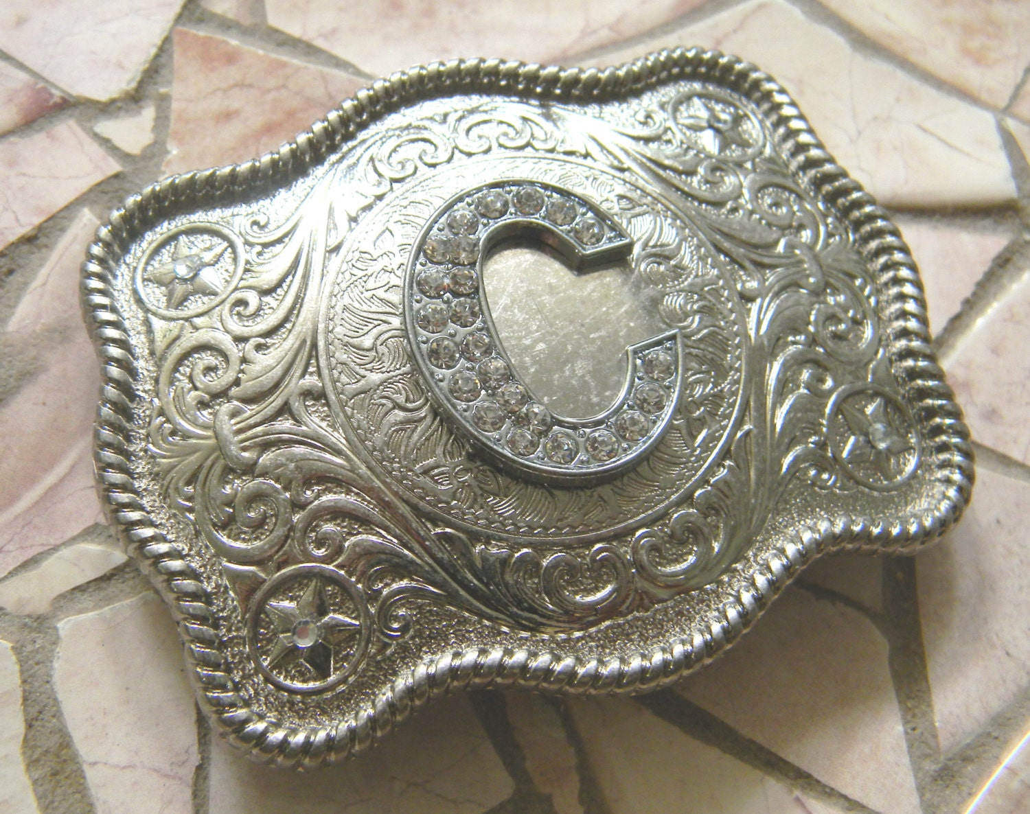 Personalized belt buckles western
