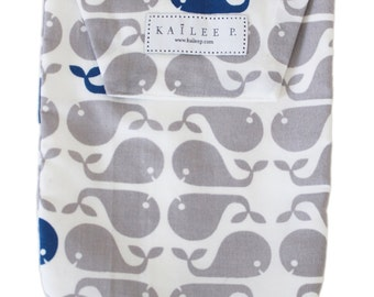 Gray Whales Dots Diaper Pouch