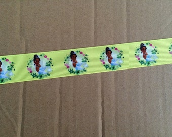 "7/8"" Grosgrain Princess Tiana Ribbon"