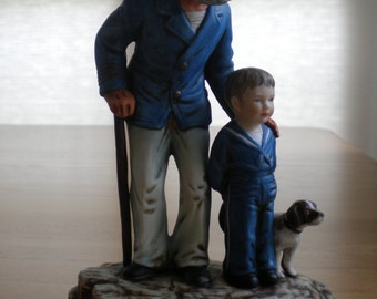 Norman Rockwell Figurines - Looking Out to Sea, For a Good Boy, The Toymaker, Fishing