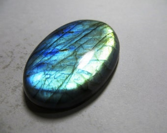 Labradorite Cabochon Gorgeous Full Flashy Amazing Fire Good Quality Oval Shape Size 31x45 mm Approx